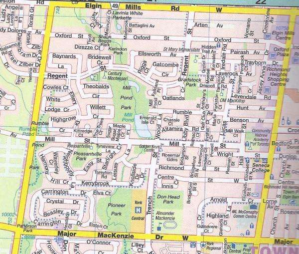 Mill Pond Heritage Estates Map