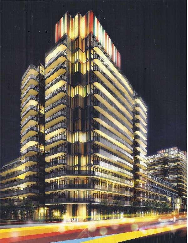 Xpression Condominium North Tower at Night